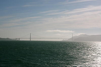 Golden Gate Bridge from the Alcatraz ferry