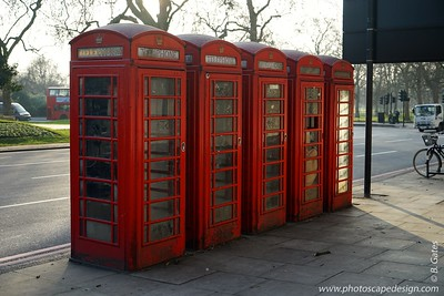 Iconic phone booths - London