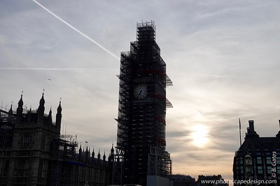 Big Ben - all scaffolded up
