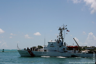 Key West (June 4, 2008)  View from Mallory Square - United States Coast Guard Cutter Key Biscayne