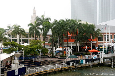 Bayside Marketplace - Miami (May 30, 2008)  The only day it rained on my vacation and did it rain hard!