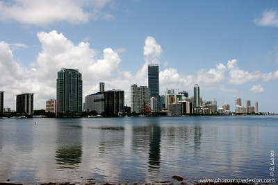 Miami Skyline - View from Rickenbacker Causeway  (June 2, 2008)