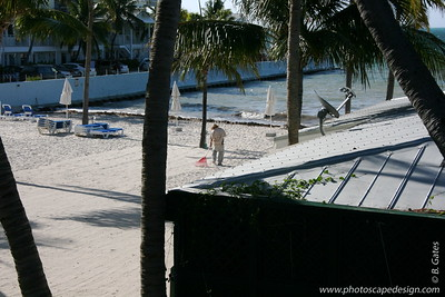 Beach in front of the Dewey House and La Mer - Key West (June 5, 2008)