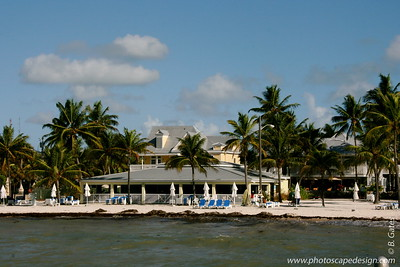 The Southernmost Beach Cafe & Bar and the Dewey House, from the pier in front of the Southernmost Hotel - Key West (June 5, 2008)