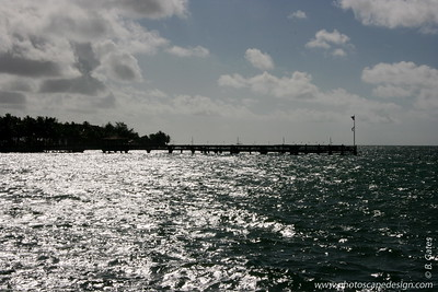 View from the pier in front of the Southernmost Hotel, which sits next to the Dewey House and La Mer - Key West (June 5, 2008)