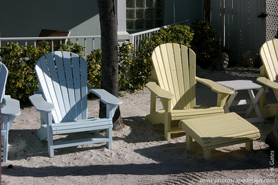 Beach chairs by the pier at the Southernmost Hotel - Key West (June 5, 2008)
