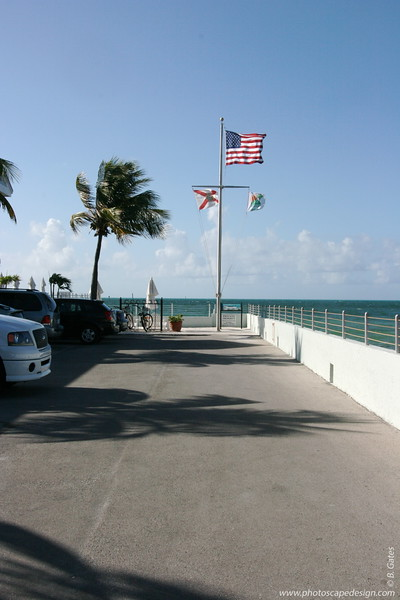 Heading out to the pier at the Southernmost Hotel, which sits next to the Dewey House and La Mer - Key West (June 5, 2008)