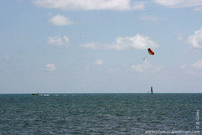 View from the beach in front of the Dewey House and La Mer - Key West (June 4, 2008)