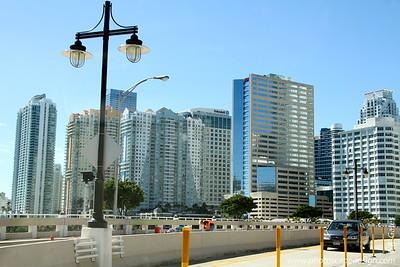 Downtown Miami - Leaving Brickell Key