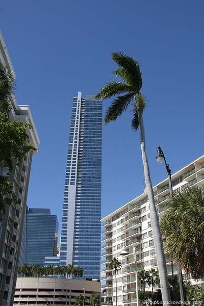 Four Seasons Hotel and Tower [east side of the building from Brickell Bay Drive]