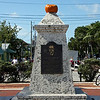 "<b>Memorial to Norberg Thompson</b>  This is a granite memorial to Norberg Thompson (1884-1951) who was the mayor of Key West from 1915-1917.  There is a compass rose surrounding the memorial.   The plague reads:    He loved his island city and served as its mayor. He devoted his life to adding and providing employment for its people. For over 50 years. Most of his accomplishments were located along this harbor.  They included sponging, fishing, shrimping, ice making, a cigar box factory, gourmet turtle soup, pineapple and guava canning, barge and truck lines, etc.  <i>Never heard to brag, he epitomized. ""Greatness has a soft voice""</i> [D]"