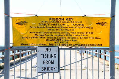 """Riding to and from Key West, we always wondered what that """"little island"""" was and how people got there.  Well, this is the first time we actually stopped at this location, and voila! - here is our answer.  Next time, we'll have to actually take a photo of Pigeon Key - """"that little island."""" :)"""