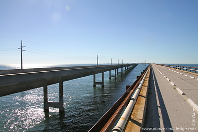 New Seven-Mile Bridge to the Left - Old Seven-Mile Bridge to the Right