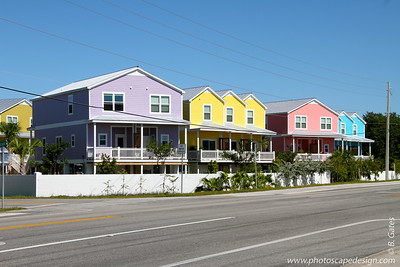 These homes are near Mile Marker 10 on US 1.  We passed them on the way to Key West and decided we would stop on the way back.  They are just so colorful that we couldn't resist taking a photo :)