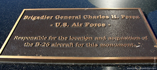 Plaque above Photos of the Pilots [D]