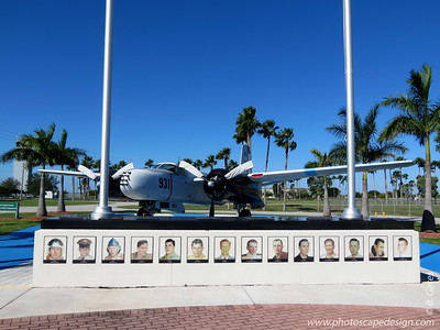 "Restored B-26 Fighter-Bomber - Replica of the Aircraft used by the Liberation Air Force, Fuerza Aérea de Liberación and Photos of the 14 Pilots  The pilots from left to right are:  Major Riley Shamburger, Captain Crispin Garcia, Captain Thomas W. Ray, Captain Osvaldo Piedra, Captain Leo Baker, Captain Raul Vianello, Captain Wade Gray, Captain Lorenzo Pérez-Lorenzo, Captain Eddy González, Captain Gastón Pérez, Captain Daniel Fernández Mon, Captain José A. Crespo, Captain José A. Fernández, and Captain Navel González Romero.  The Douglas B-26 Invader was restored as ship No. 931. It was flown by Gustavo ""Gus"" Ponzoa with navigator Rafael Gárcia Pujol.    The Douglas A-26/B-26 bomber was the only American bomber to fly missions in three wars. After World War II, it served as a first-line bomber during the Korean War and during the Vietnam War. Douglas started the A-26 in 1941 to follow the A-20/DB-7 Havoc bomber.  Douglas built 2,503 A-26/B-26 Invaders. During production, a number of modifications were progressively introduced so that by 1948, the A-26 was one of the few wartime aircraft types still in service with the post-war U.S. Air Force. When the famous Martin B-26 Marauder retired and the Air Force deleted the designation ""A"" (for attack category), the Douglas Invader took on the B-26 designation."