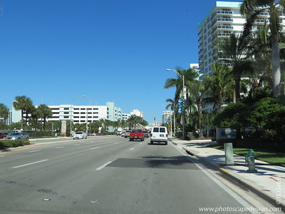 Ocean Drive - A1A  This photo was taken from the car as we headed down Ocean Drive.