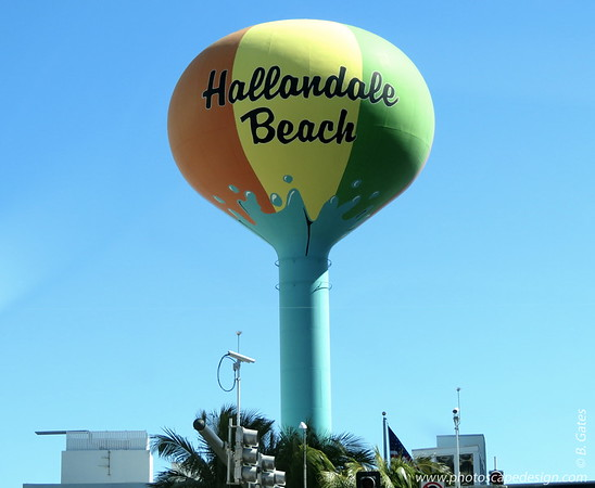 Hallandale Beach is at the southern end of Greater Fort Lauderdale. This was right smack in front of us. This photo was taken from the car.  At this point, we turned left and headed to Hollywood Beach.