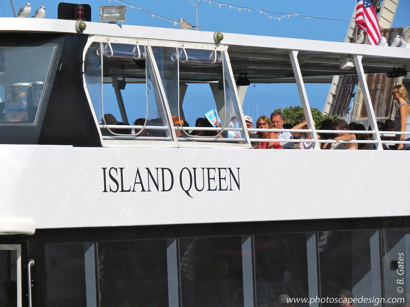 """Island Queen  """"Your yacht is waiting . . ."""""""