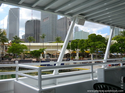Miami Skyline and Bayside Marketplace  View from Island Queen