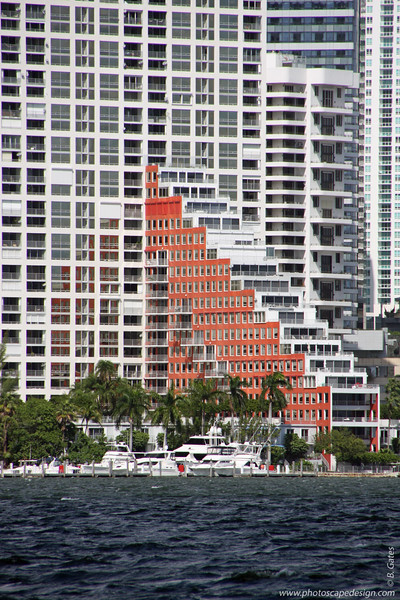Brickell Avenue - Miami Skyline from the South Side of Rickenbacker Causeway [D]