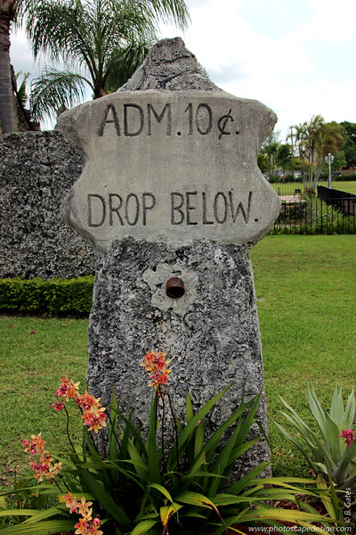 On the grounds outside of Coral Castle
