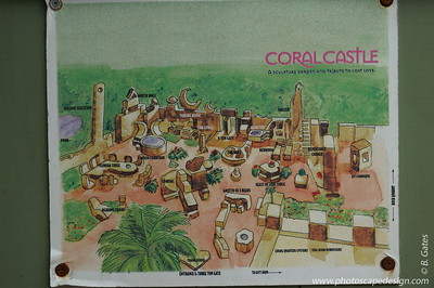 Map of Coral Castle