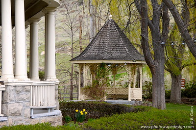 Gazebo in Yard of Bishops' House  This house was built in 1889 as a home for Idaho's Episcopal bishops.  It was moved to this site in 1975 and is operated by the Friends of the Bishops' House.