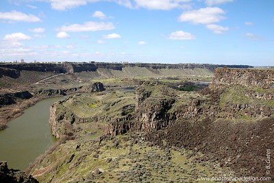 Snake River Canyon - Twin Falls  Canyon Springs Golf Course in Snake River Canyon [far right]