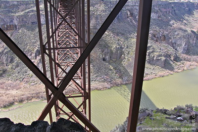 Perrine Bridge - Twin Falls  Girders underneath the Perrine Bridge