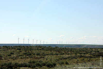 On the way to Twin Falls  [D]  Wind turbines