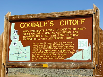 Goodale's Cutoff - In 1862, Tim Goodale led 1,095 emigrants and 338 wagons across a cutoff of the Oregon Trail that came to bear his name.