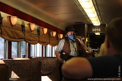 The train robber . . .