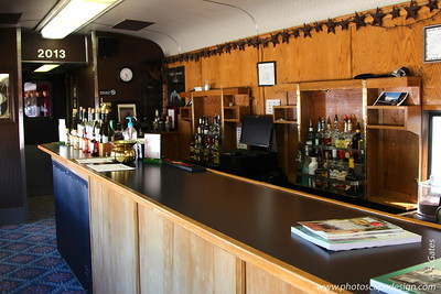 Not all the train cars have a bar in them.  Naturally, we made sure we were in the one that DID have a bar.
