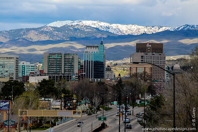 View of downtown Boise from Boise Train Depot