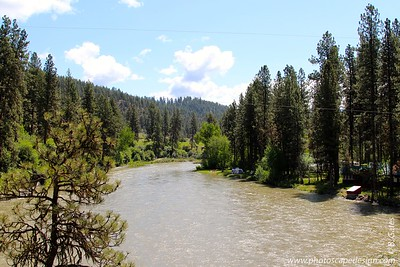 View from the campground - South Fork of the Payette River