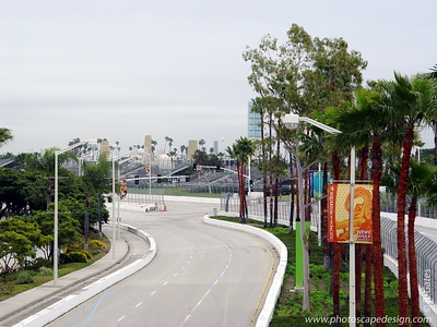 Set up for the Long Beach Grand Prix - Long Beach, California