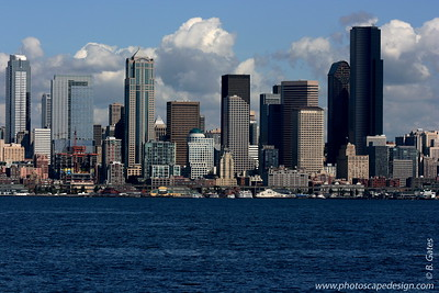 Seattle Skyline from Alki Beach - Seattle (Sept. 6, 2007)