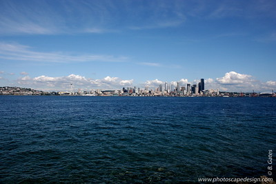 Seattle Skyline from Alki Beach - Seattle (Sept. 6, 2007)