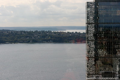 View from the 40th floor of The Rainier Building - Downtown Seattle ( Sept. 6, 2007)