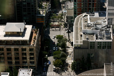 View from the 40th floor of The Rainier Building - Downtown Seattle (Sept. 6, 2007)