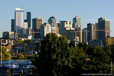 Seattle Skyline from Harbor Area (Sept. 6, 2007)