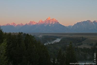 Sunrise, Snake River Overlook, Grand Teton National Park, Wyoming