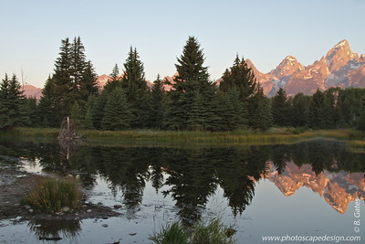 Sunrise, Schwabacher Landing, Grand Teton National Park, Wyoming