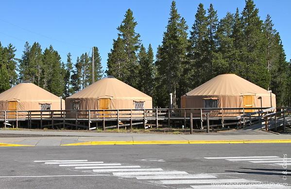 Yurts, Yellowstone National Park, Wyoming