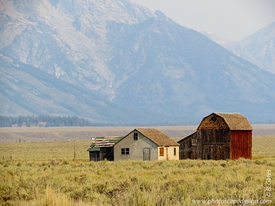 Mormon Row is in the southeast corner of Grand Teton National Park, in the valley called Jackson Hole. The rural historic landscape's period of significance includes the construction of the Andy Chambers, T.A. Moulton and John Moulton farms from 1908 to the 1950s. Six building clusters and a separate ruin illustrate Mormon settlement in the area and comprise such features as drainage systems, barns, fields and corrals. Apart from John and T.A. Moulton, other settlers in the area were Joseph Eggleston, Albert Gunther, Henry May, Thomas Murphy and George Riniker.