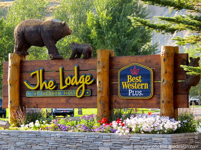 The Lodge at Jackson Hole - This is where we stayed. All the wood carving sculptures were created by  Jonathan Andrew LaBenne, also known as Jonathan the Bear Man.
