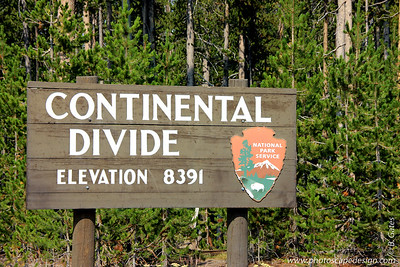 The Continental Divide of the Americas, also called the Great Divide, separates the watersheds of the Pacific Ocean from those of the Atlantic and Arctic Oceans. It runs from the Seward Peninsula in Alaska, through western Canada along the crest of the Rocky Mountains, including through Glacier National Park, Yellowstone National Park, and Rocky Mountain National Park to New Mexico. It divides the flow of water between the Pacific Ocean and Atlantic Ocean. Rain or snow that drains on the east side of the Continental Divide flows toward the Atlantic Ocean while precipitation on the west side drains and flows toward the Pacific Ocean. (However, some rivers empty into the desert and don't end up in the oceans.) Every continent except for Antarctica has a continental divide.