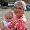 Jodi Fugate and grandbaby at Children's Costume Contest 4:47