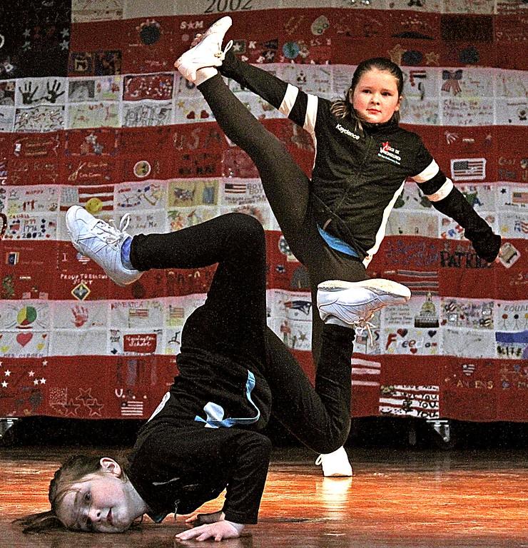 . Junior members of the Studio A Dance Company perform at the 6th Annual Harrington School Heritage Festival. SUN/ David H. Brow